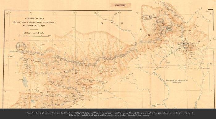 किंथूपच्या प्रवासाचा मागोवा घेणारा नकाशा आरती कुमार राव यांच्या संग्