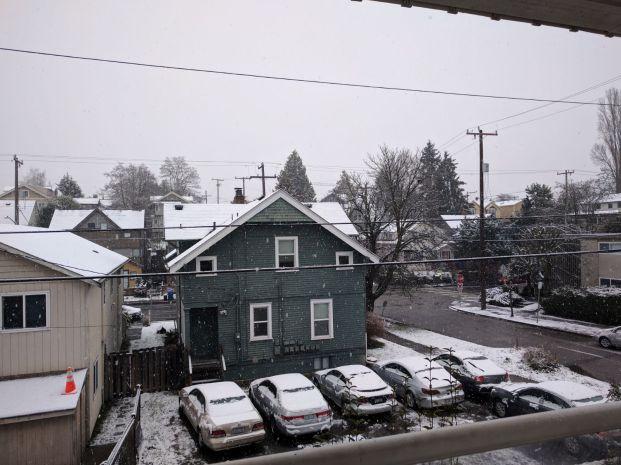 या वर्षी सिएटल मध्ये हिमवर्षाव झाला !