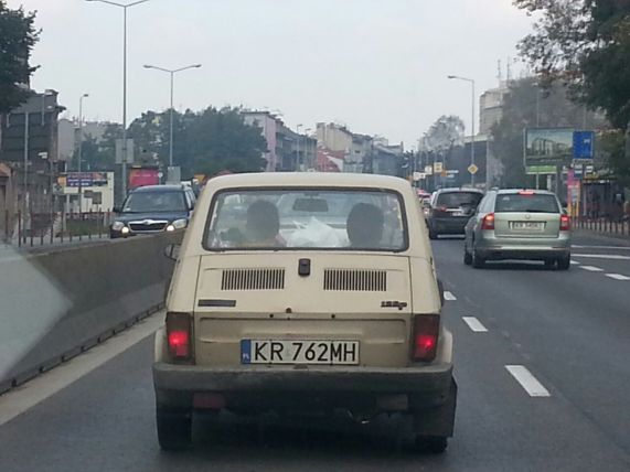 an old car in krakow