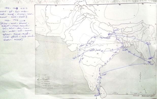 धर्मानंदांचे प्रवास (१८९९-१९०६)