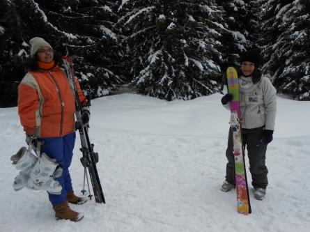 स्कीइंगचा अनुभव