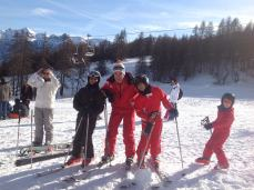 my son_his friend with ski trainer