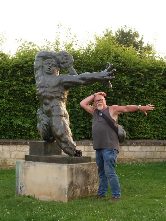 Posing silly in Caen